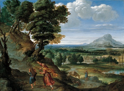 'Abraham_Leading_Isaac_to_Sacrifice',_oil_on_copper_painting_by_Domenichino.JPG