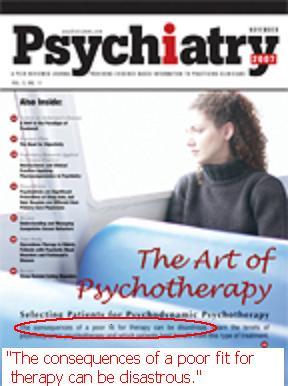 cover of psychaitry Nov 2006